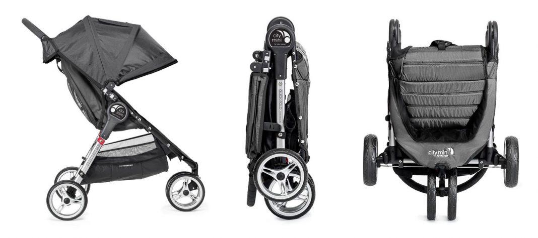 diferentes posiciones y plegado de la sillita Baby Jogger City Mini 3