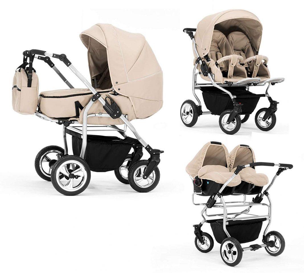 posibles posiciones y adaptaciones del carro para gemelos